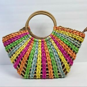 Straw Hand-woven Clutch Handle Bag